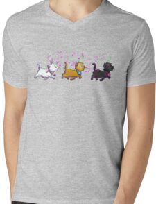 Kitten Trio Mens V-Neck T-Shirt