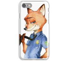 Zootopia Nick Wilde Police Officer/Cop (All White) iPhone Case/Skin
