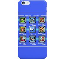 Mega Man 2 - Stage Select iPhone Case/Skin