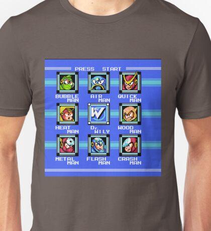 Mega Man 2 - Stage Select Unisex T-Shirt