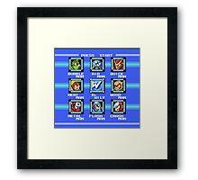 Mega Man 2 - Stage Select Framed Print