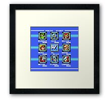 Mega Man 2 - Stage Select Framed Print
