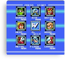 Mega Man 2 - Stage Select Canvas Print