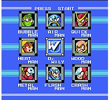 Mega Man 2 - Stage Select Photographic Print
