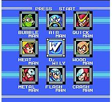 Mega Man 2 - Stage Select Photographic Print
