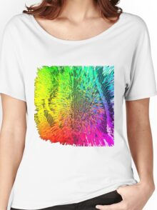 Trippy Grid Women's Relaxed Fit T-Shirt