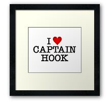 I love Captain Hook Framed Print