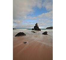 Rocks and Sand on Sango Bay Photographic Print