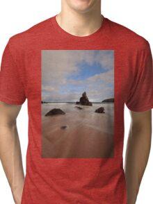 Rocks and Sand on Sango Bay Tri-blend T-Shirt