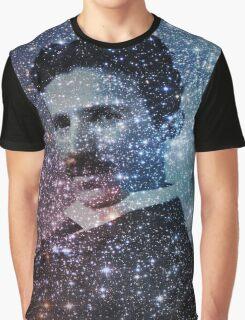 Nikola Tesla Star Mind Very Large Poster Graphic T-Shirt