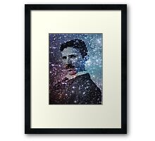Nikola Tesla Star Mind Very Large Poster Framed Print