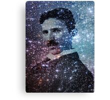 Nikola Tesla Star Mind Very Large Poster Canvas Print