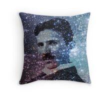 Nikola Tesla Star Mind Very Large Poster Throw Pillow