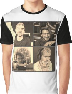 Markiplier and Jacksepticeye: Heroes Graphic T-Shirt