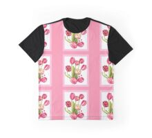 9 bunches of Pink Tulip Flowers by Kristie Hubler Graphic T-Shirt