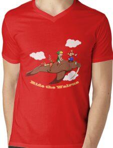 Ride the Walrus Mens V-Neck T-Shirt