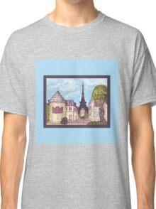 Paris Eiffel Tower inspired impressionist landscape by Kristie Hubler Classic T-Shirt