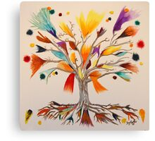 The Vibrant Colour Tree Canvas Print