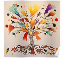 The Vibrant Colour Tree Poster