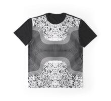 Modern Black and White Speckles and Swirls Graphic T-Shirt