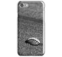 Lonely shell on the beach iPhone Case/Skin