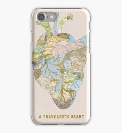 traveler's heart iPhone Case/Skin