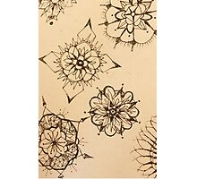 Inky Thought-Flowers Photographic Print