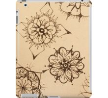 Inky Thought-Flowers iPad Case/Skin