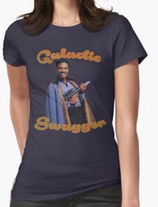 Galactic Swagger with Lando Calrissian Womens Fitted T-Shirt