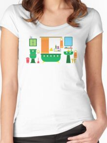 a bathroom Women's Fitted Scoop T-Shirt