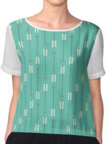 Arrows_Turquoise Chiffon Top