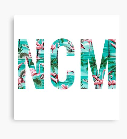 NCM - Tropical Flamigoes Canvas Print