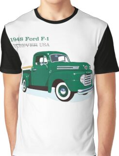 FORD : 1948 FORD F-1. FOREVER USA Graphic T-Shirt