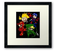 City Smash Bros. Framed Print