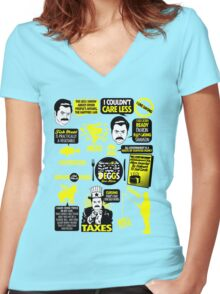 Quotes of a Swanson Women's Fitted V-Neck T-Shirt