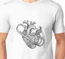 heart clip Unisex T-Shirt