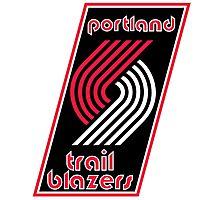 Portland Trail Blazers Retro  Photographic Print