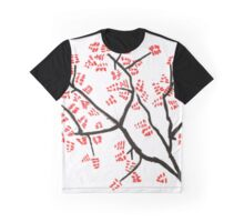 Dark Branches with Red Leaves Graphic T-Shirt