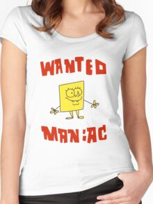 SpongeBob SquarePants Classic - Wanted Maniac Women's Fitted Scoop T-Shirt