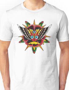 Rose Eyes on White Unisex T-Shirt