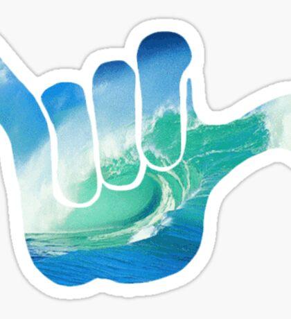 Surf Hand Sticker
