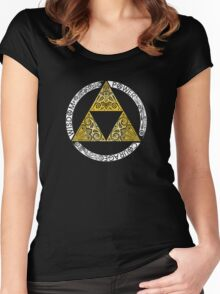 triforce Symbol Women's Fitted Scoop T-Shirt