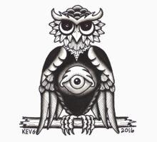 3RD EYE OWL BLACK One Piece - Short Sleeve