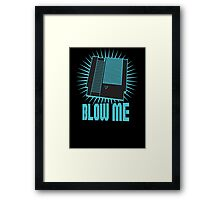 Nintendo Blow Me Cartridge Funny T-Shirt Framed Print