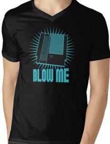 Nintendo Blow Me Cartridge Funny T-Shirt Mens V-Neck T-Shirt