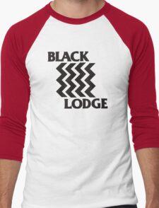 Twin Peaks Black Lodge Black Flag Parody Men's Baseball ¾ T-Shirt