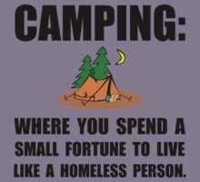 Camping Homeless Kids Tee