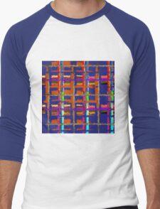 Muted River Basket Men's Baseball ¾ T-Shirt