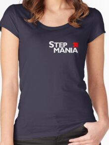 Stepmania variation 1 side location Women's Fitted Scoop T-Shirt