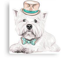 dog West Highland White Terrier Canvas Print